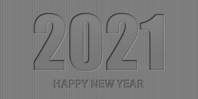 bonne année fond minimaliste avec un design de style typographique