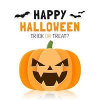 modèle de bannière halloween heureux avec citrouille effrayante