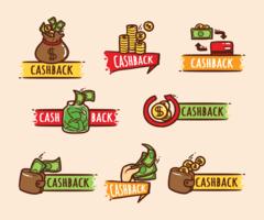 Étiquettes de remise en argent vecteur