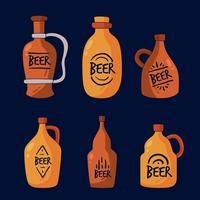 Vecteur de collection de bière Growler