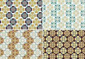 Patterns de fleurs d'automne et fonds d'écran vecteur