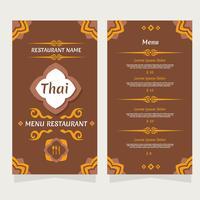 Vecteur de menu thaïlandais