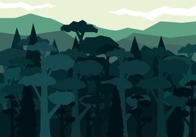Forêt abstraite de vecteur