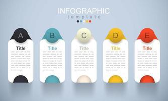modèle infographique moderne avec sous-thème vecteur