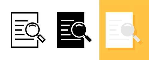 icône de recherche de document vecteur