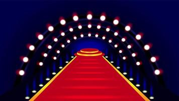 tapis rouge menant à l'illustration de la scène vecteur