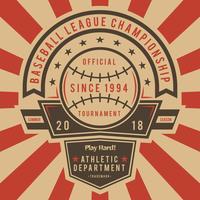 Vecteurs emblématiques de baseball Vintage vecteur