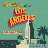 Typographie de Los Angeles Vintage vecteur