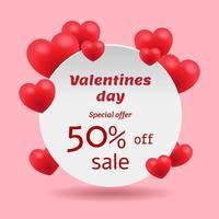 Bannière de vente Saint Valentin vecteur