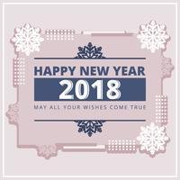 Carte de vecteur de nouvel an