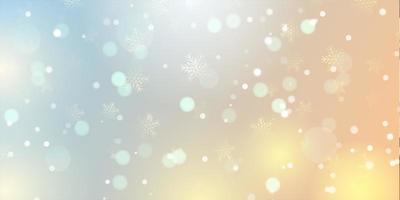 bannière élégante de flocon de neige de noël 1