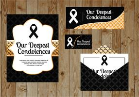 Carte de voeux de condoléances vecteur