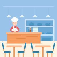 Chef sur Canteen vecteur