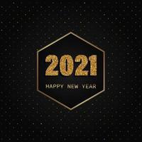 fond de bonne année or et noir