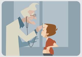 Vieux vecteur de pédiatre