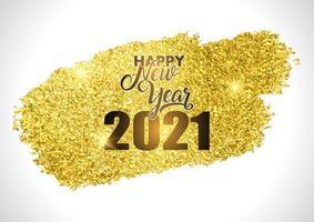 conception de bonne année pailletée or