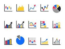 jeu d'icônes de graphique et graphique