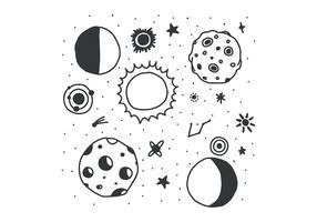 Eclipse noire et blanche vecteur