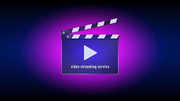 service de streaming vidéo avec design à clins de réalisateur vecteur