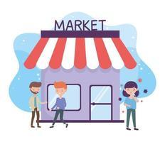 santé en ligne, éviter le marché et les endroits bondés personnes malades coronavirus covid 19
