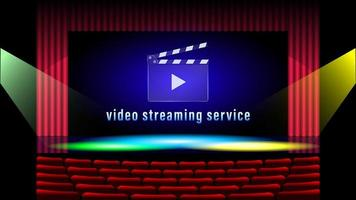 service de streaming vidéo avec fond de théâtre et clins vecteur