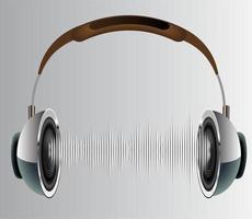 ondes sonores oscillant lumière sombre vecteur
