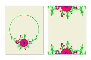 conception de modèle de carte de voeux floral pour la mise en page et la carte de couverture