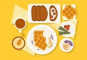Illustration vectorielle de petit déjeuner