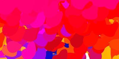 toile de fond de vecteur rose clair, jaune avec des formes chaotiques.