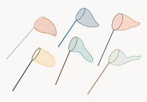 Collection de filet de papillon vecteur