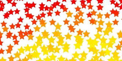 disposition de vecteur orange clair avec des étoiles brillantes.
