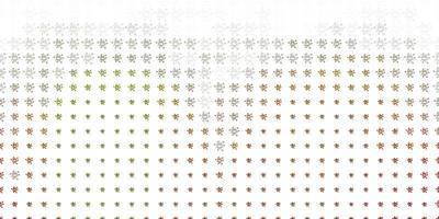 modèle vectoriel vert clair et jaune avec des éléments de coronavirus.