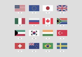 Pays Devises vecteur