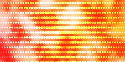 disposition de vecteur orange clair avec des cercles.
