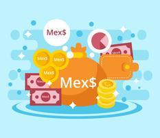 Vecteur de Peso mexicain gratuit