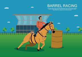 Illustration gratuite de course de baril vecteur
