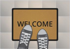 Bienvenue Mat Illustration vecteur