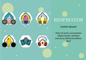Masque chimique de gaz de respirateur de style plat