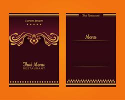 Modèle de menu thaïlandais vecteur