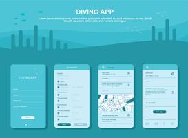 vecteur de gui app mobile