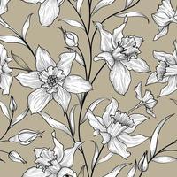 motif floral sans soudure. fond de fleur de narcisse. texture ornementale de carreaux floraux avec des fleurs.