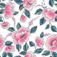 motif floral sans soudure. s'épanouir fond carrelé avec fleur.