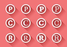 Symbole du droit d'auteur vecteur