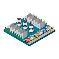 industrie isométrique en vecteur sur fond blanc