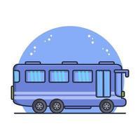 bus de la ville illustré en vecteur sur fond blanc