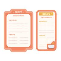 Cartes de recettes