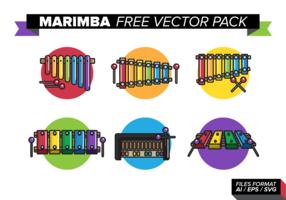Pack de vecteur gratuit Marimba