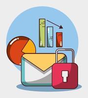 statistiques de rapport de graphique de sécurité financière entreprise argent vecteur