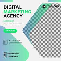 publication de modèle de marketing numérique pour les médias sociaux vecteur