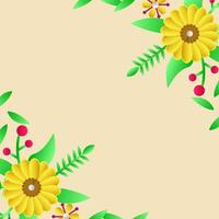 fond de carte de voeux floral